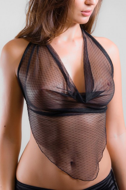 Top dentelle transparente Léa