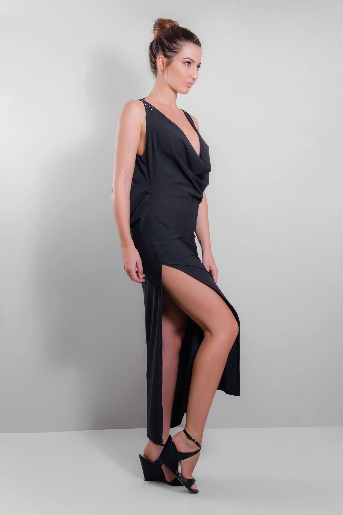Robe longue sexy Décolletée CLOTILDE