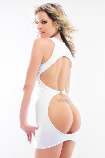 Robe très sexy Jennifer avec fesses et dos nus ! LA tenue sexy préférée des coquins et coquines