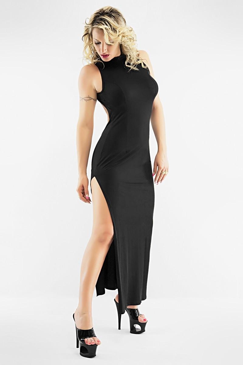 robe longue sexy christine grand dos nu laissant entrevoir le haut des fesses. Black Bedroom Furniture Sets. Home Design Ideas