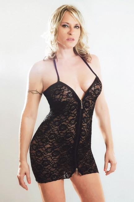 Lola - Robe sexy double zip haut et bas