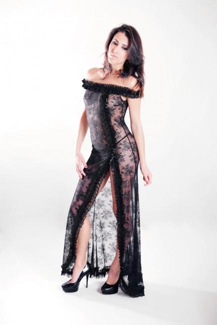 Robe longue dentelle Séverine