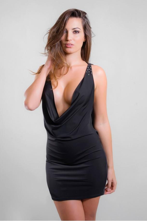 Robe sexy noire CLEO
