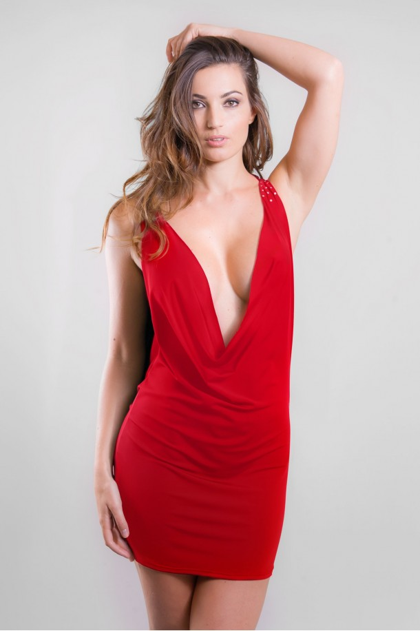 Robe sexy rouge CLEO