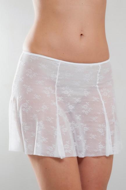 Mini-jupe dentelle blanche Justine