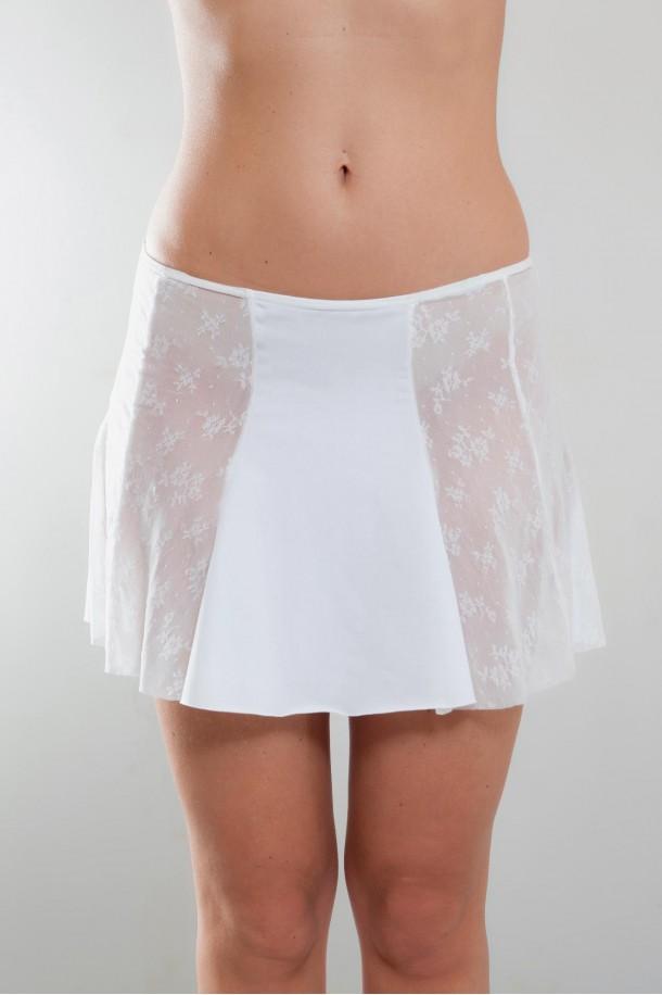 Mini-jupe tissus et dentelle Justine