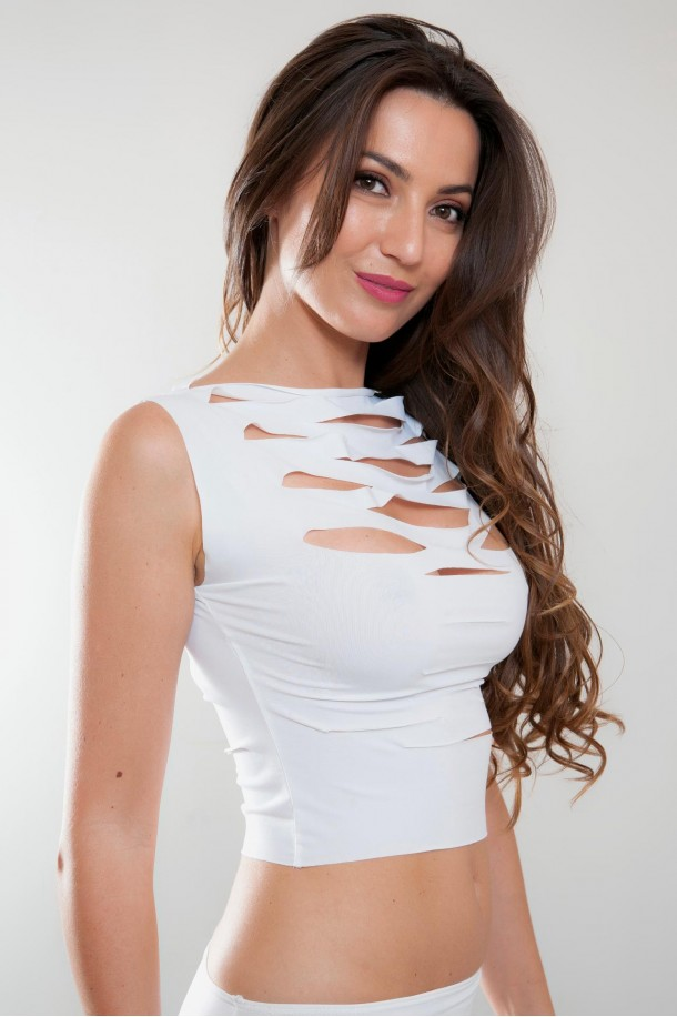 Top sexy ajourée blanc, Vanessa