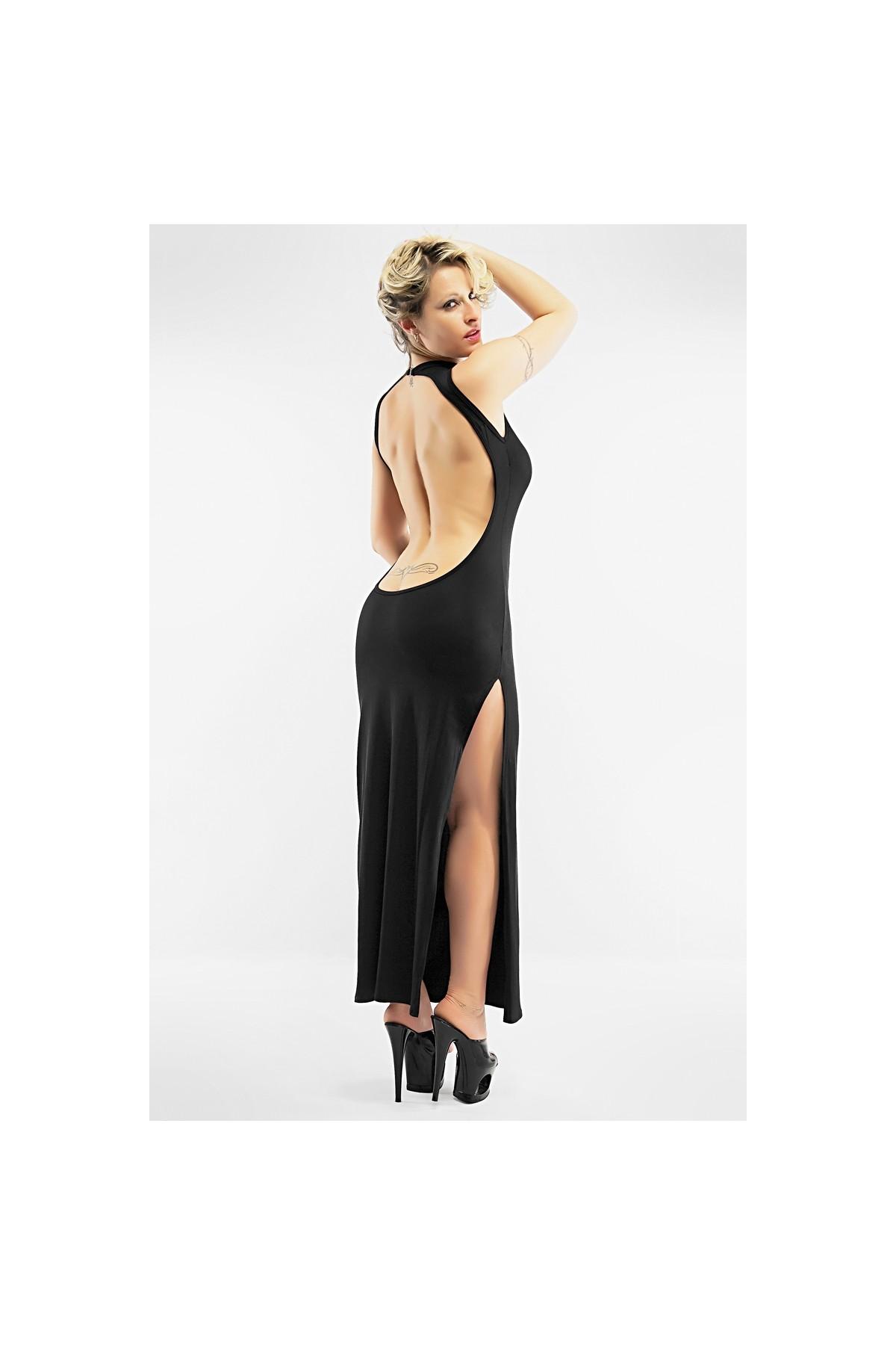 Robe Longue Sexy Christine A Grand Dos Nu Laissant Entrevoir Le Haut Des Fesses