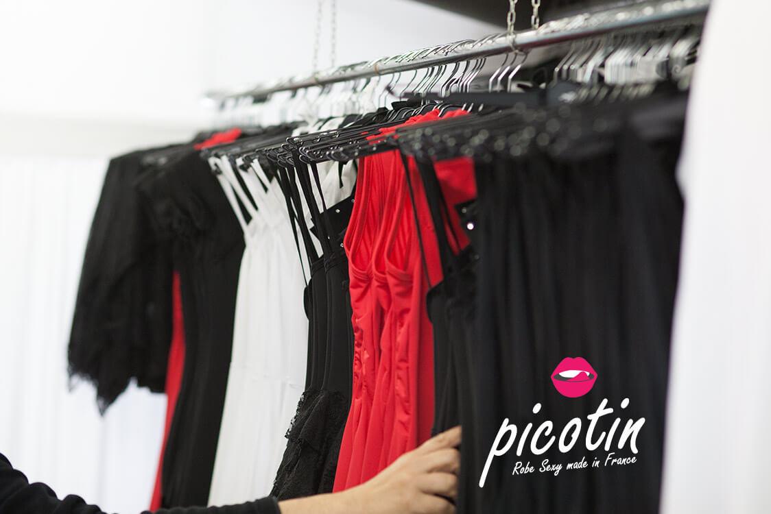 Achat de Robe sexy et tenue sexy de fabrication et création française : picotin